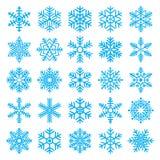 Flocos de neve de Chirstmas ajustados Imagens de Stock
