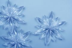 Flocos de neve de cristal imagens de stock royalty free