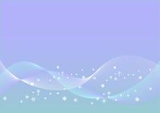 Flocos de neve de cristal Fotografia de Stock