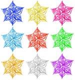 Flocos de neve de papel coloridos do Natal Foto de Stock Royalty Free