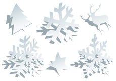 Flocos de neve de papel, vetor Imagem de Stock