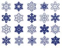Flocos de neve decorativos do vetor Fotografia de Stock Royalty Free