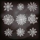 Flocos de neve desenhados mão Imagem de Stock