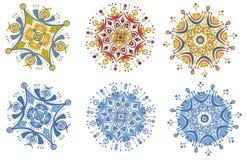 Flocos de neve do desenhador Foto de Stock Royalty Free