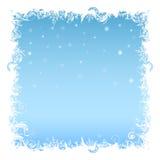Flocos de neve do fundo do Natal com luzes - ilustração Fotografia de Stock Royalty Free