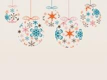 Flocos de neve do Natal Imagens de Stock Royalty Free