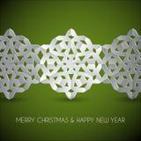 Flocos de neve do Natal do Livro Branco do vetor Fotos de Stock