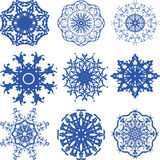 Flocos de neve do Natal do teste padrão Imagens de Stock Royalty Free