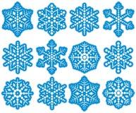 Flocos de neve do ponto ilustração stock