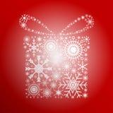 Flocos de neve do presente Imagem de Stock Royalty Free