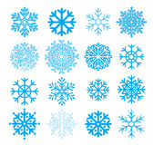 Flocos de neve do vetor Fotos de Stock
