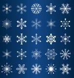 Flocos de neve do vetor Foto de Stock
