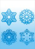 Flocos de neve do vetor Imagem de Stock Royalty Free