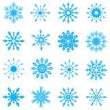 Flocos de neve do vetor Imagens de Stock Royalty Free