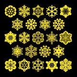 Flocos de neve do vetor Ilustração Royalty Free