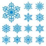 Flocos de neve do vetor ajustados
