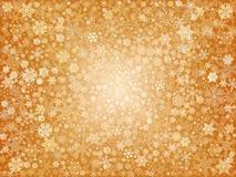 Flocos de neve dourados Imagem de Stock