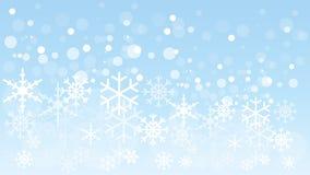 Flocos de neve e céu, flocos de neve e fundo da neve ilustração royalty free