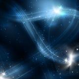 Flocos de neve e estrelas ilustração do vetor