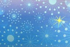 Flocos de neve e estrelas abstratos do fundo do Natal Foto de Stock Royalty Free
