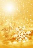 Flocos de neve e neve do Natal Fotos de Stock Royalty Free