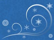 Flocos de neve e redemoinhos ilustração royalty free
