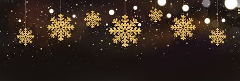 Flocos de neve efervescentes brilhantes no fundo escuro com luzes do brilho Feliz Natal e cartão do ano novo feliz ilustração stock