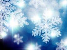 Flocos de neve efervescentes do Natal fotos de stock royalty free
