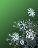 Flocos de neve festivos Imagens de Stock
