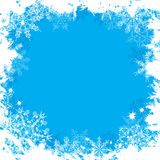 Flocos de neve fundo de Grunge, vetor Fotografia de Stock