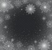 Flocos de neve Fundo do Natal e do ano novo imagem de stock royalty free