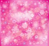 Flocos de neve, fundo gelado da neve do inverno ilustração stock