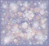 Flocos de neve, fundo gelado da neve do inverno ilustração do vetor