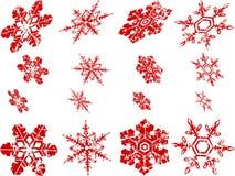 Flocos de neve gastos Fotografia de Stock