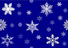 Flocos de neve, imagem do ilustrador Imagens de Stock Royalty Free