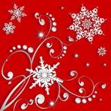 Flocos de neve inverno ou Natal Foto de Stock Royalty Free