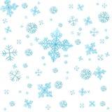 Flocos de neve isolados Imagens de Stock Royalty Free