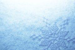 Flocos de neve na neve Fotos de Stock
