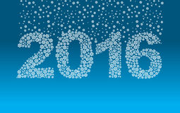 2016 flocos de neve A neve cai nas figuras Fotografia de Stock Royalty Free