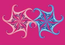 Flocos de neve no amor ilustração royalty free