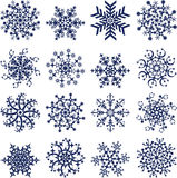 Flocos de neve no branco, vetor ilustração stock