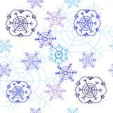 Flocos de neve no fundo branco Foto de Stock Royalty Free