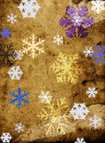 Flocos de neve no fundo sujo Imagem de Stock