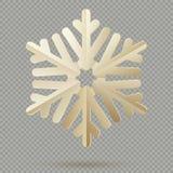 Flocos de neve de papel da decoração do Natal do vintage com a sombra isolada no fundo transparente Eps 10 ilustração stock
