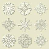 Flocos de neve para a arte -final do projeto Foto de Stock Royalty Free