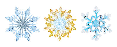 Flocos de neve para a arte -final do projeto Fotografia de Stock Royalty Free