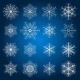 Flocos de neve para a arte -final do projeto Fotos de Stock