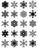 Flocos de neve para a arte -final do projeto Imagens de Stock