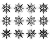 Flocos de neve para a arte -final do projeto Isolado Fotos de Stock