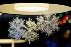 Flocos de neve plásticos imagens de stock